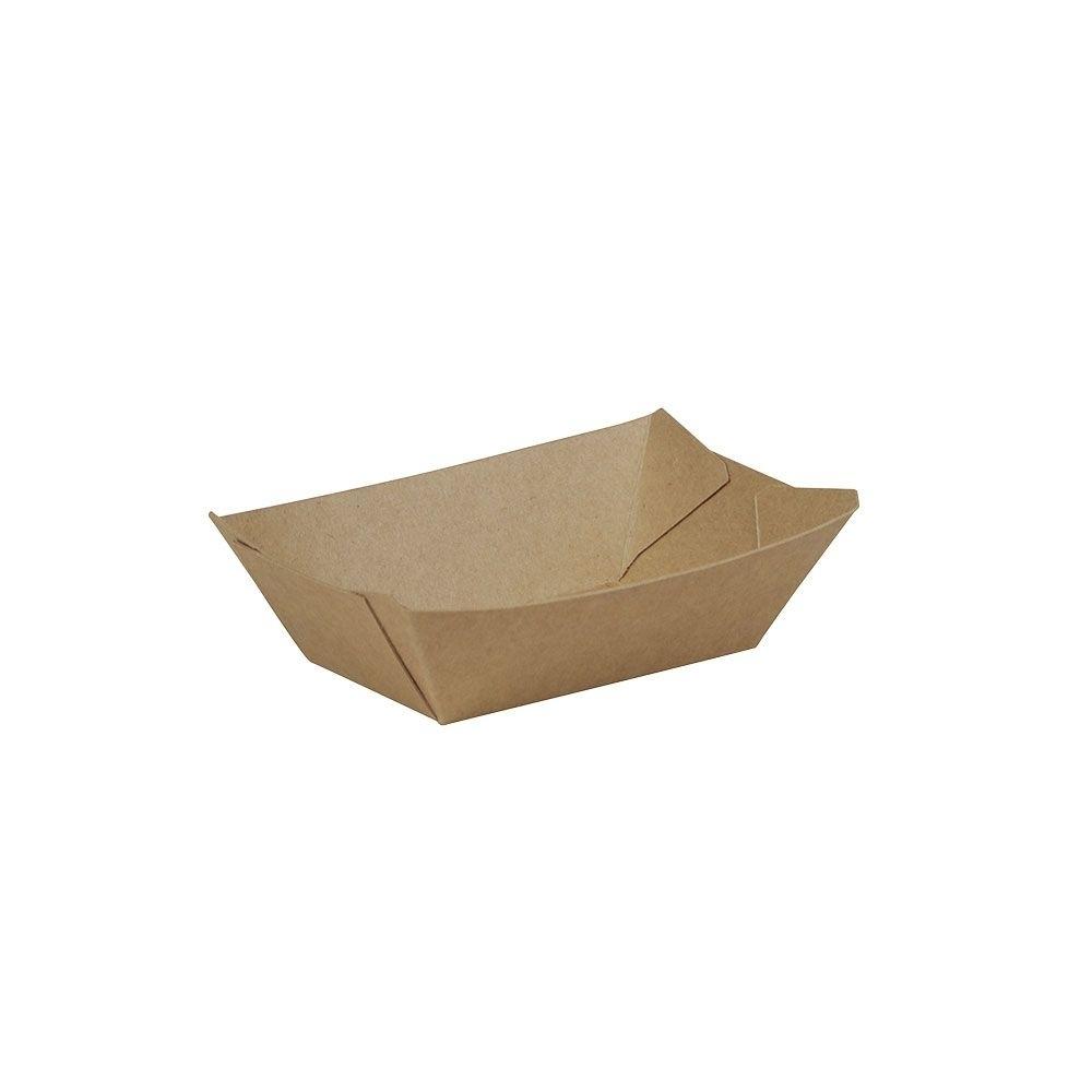 Premium-Karton-Snack-Schalen 200 ml, braun, bio-beschichtet