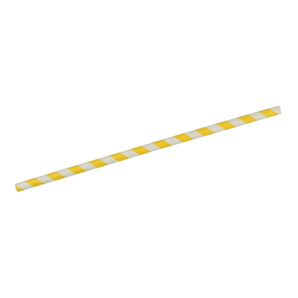 Papier-Jumbo-Trinkhalme 25 cm, Ø 0,8 cm, gelb gestreift