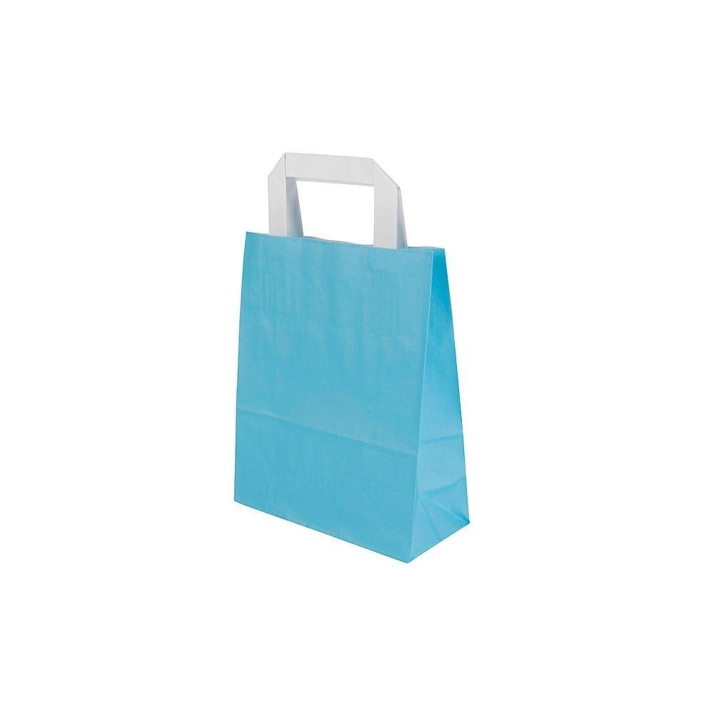 Kraftpapier-Tragetaschen S, 18 x 8 x 22 cm, hellblau