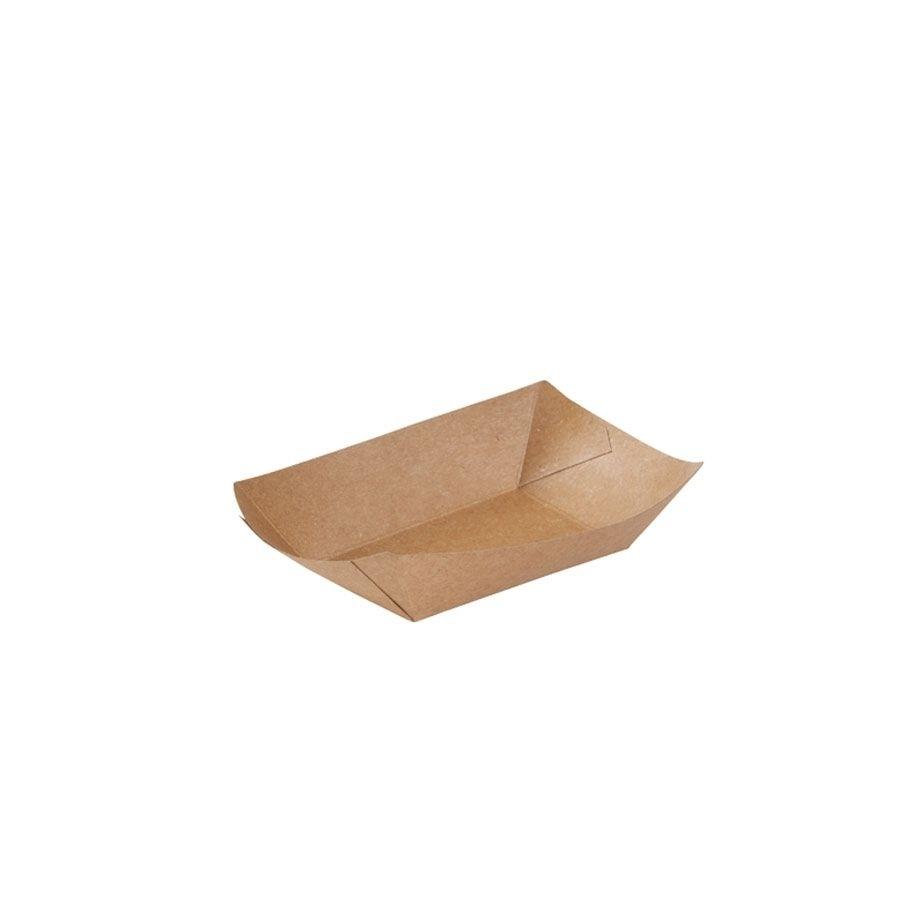 Karton-Snack-Schalen 100 ml, braun, bio-beschichtet
